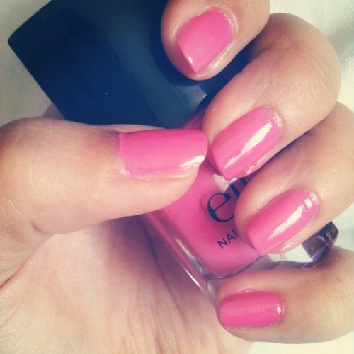 #pink #nails #nailpolish #nailart #me #personal #beauty #instagram  (Pris avec instagram)