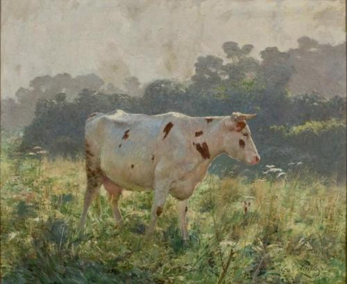 "Emile Claus - Vaches ""Source"""