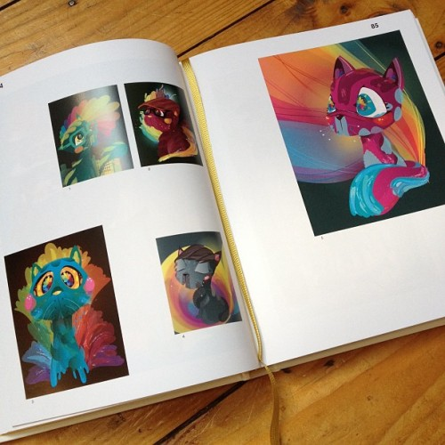 My AlleyCats featured in the new @pictoplasma book. #careerboxticked (Taken with instagram) You can buy my AlleyCats prints here… http://alleycats.bigcartel.com/