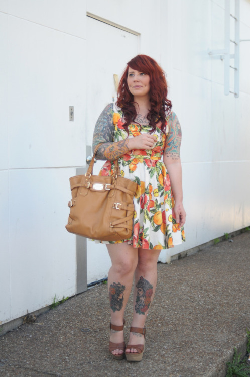 Southern Peach : a new outfit post ft. a fruity dress + my favorite new wedges.