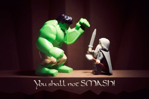 winterartwork:  powerpig:  You shall not SMASH! on Flickr.  ..and Gandalf was never heard from again