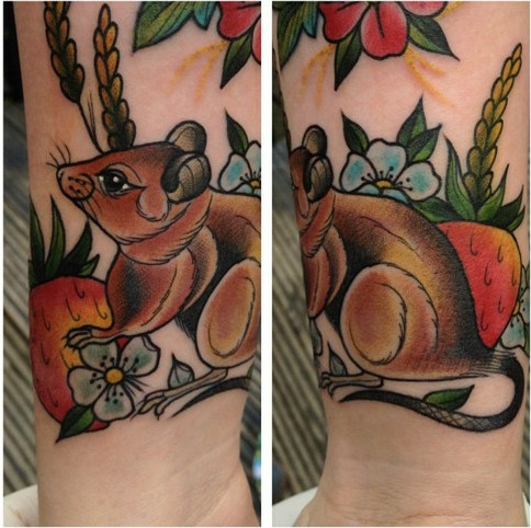 My little strawberry mouse by Marmite queen, Amy Savage of Jayne Doe, Hornchurch UK.