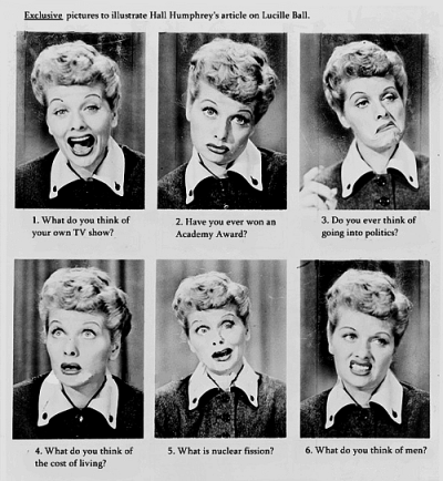 "khealywu:  megsokay:  kindafabulous:  I've been watching ""I Love Lucy"" at 2am a LOT recently. She's a classic human being.  Number 6.  Fuck you Adam Carolla.  The best. - vinny"
