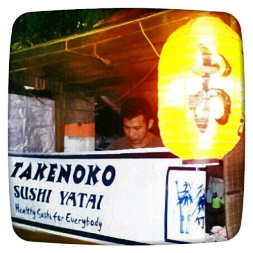 #sushi #yatai #street #takenoko #chef #kota #kediriヽ(*⌒∇⌒*)ノ #instagram #instaphoto #instaworld #android #androidphoto #pingram #pingramme #hellogram #instadaily #instacnvs #photooftheday #instago #instagramers #picoftheday #instacanvas #instadaily #instagramhub #gf_daily #gang_family #icTT (Taken with instagram)