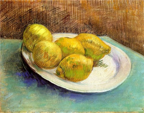 Vincent van Gogh - Still Life with Lemons on a Plate  yama-bato: