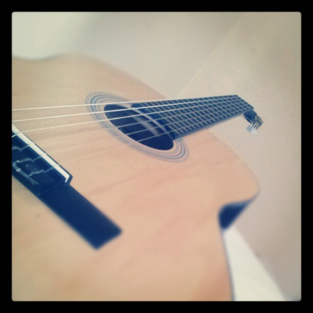 My guitar #bored  (Taken with instagram)