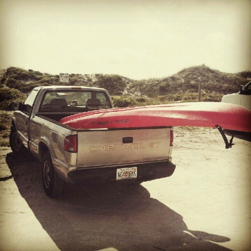 choppy waves. Kayak wins again. (Taken with instagram)