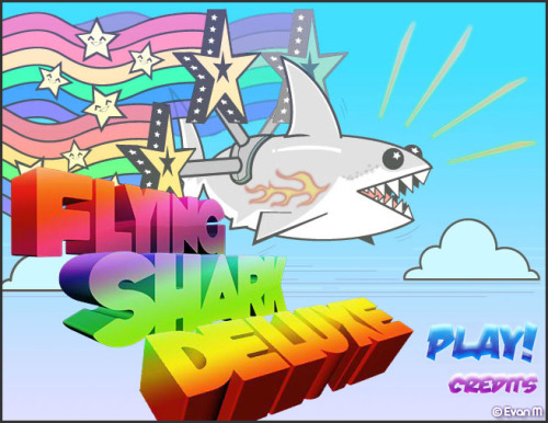 sharkandfriends:  Flying Shark Deluxe UPDATE: I fixed the music error. ENJOY! Click through to play. Danke schön <3  This is the best thing ever for every reason ever.