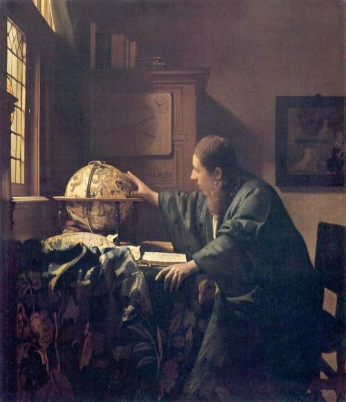 The Astronomer, 1668. Johannes Vermeer Oil on canvas, 51 × 45 cm.