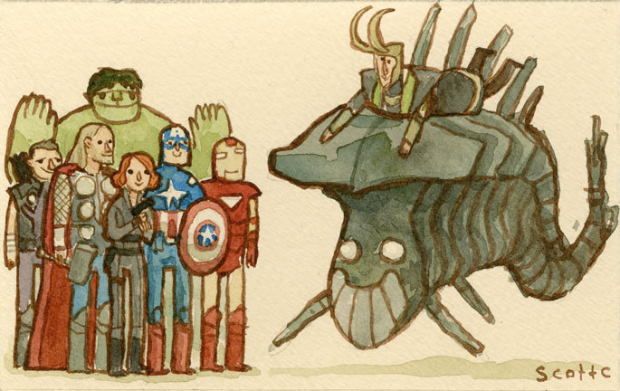 scottlava:  The Avengers by Scott C.