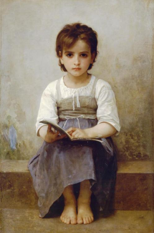 "William Bouguereau - La lecon difficile ""Source"""