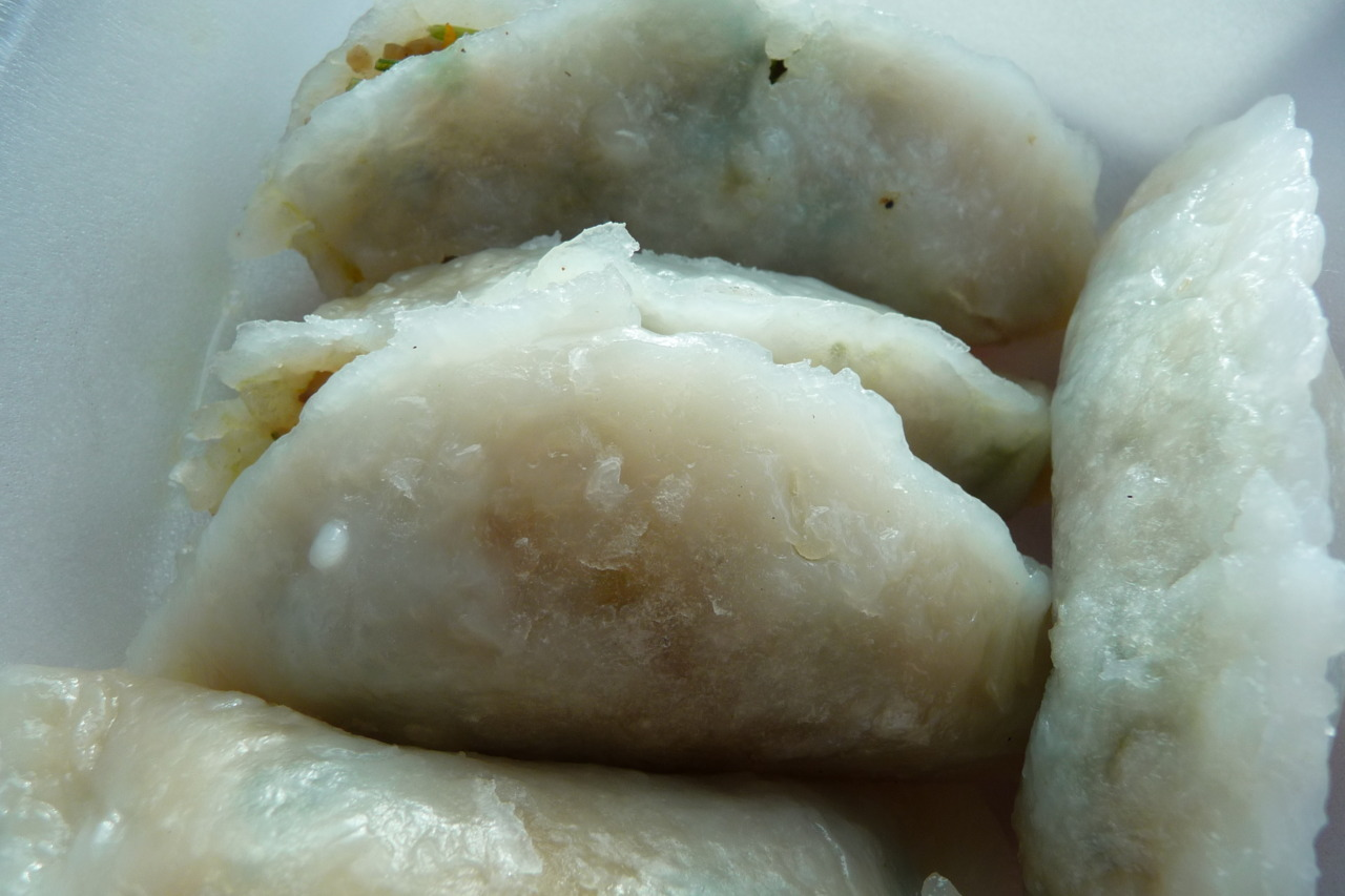Homemade by mom, dim sum style shrimp dumplings.