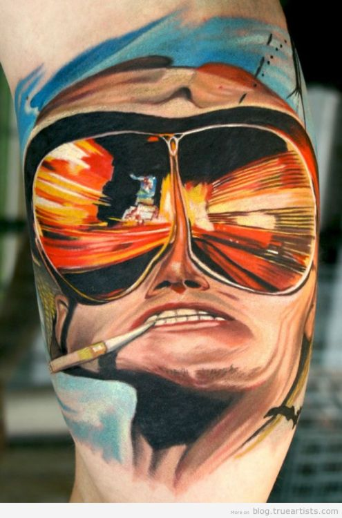 Hunter S. Thompson by  Todo Brennan See more of his work here and here