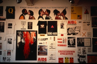 AIDS/SIDA September 6 - 29, 1990 This exhibition was organized, in part, by David Hixon for Simon Watson Gallery, NYC, with the assistance of Robert Beck, Paul Bowen, and Rolf Sjogren.  original slide dimensions: 1.375 x 0.9375""