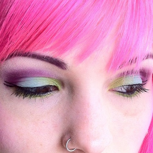 My #MOTD with the Sugarpill Heart Breaker palette. 💗💗💗 (Taken with instagram)