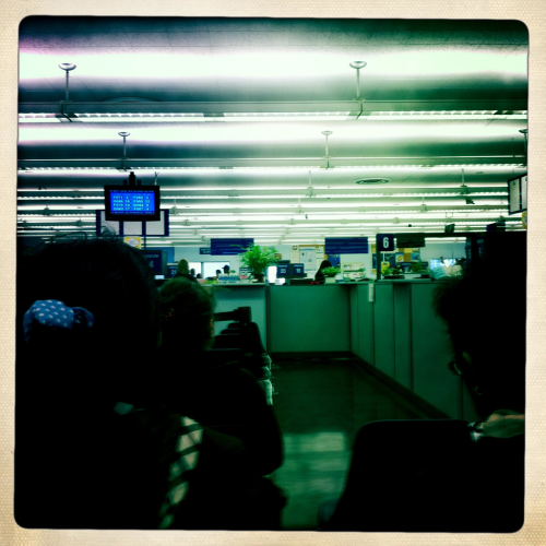 The DMV loves fluorescent light.