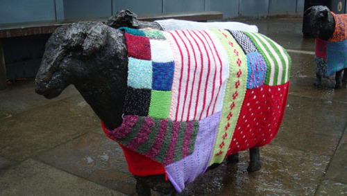 City streets get softer with guerrilla knitters' creations