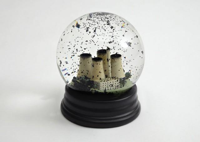 laughingsquid:  No Globes, A Coal Power Plant Snow Globe