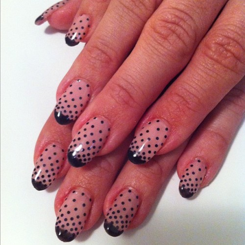 Ombre polka dots #nailart #nail  @roxycottontail  (Taken with instagram)