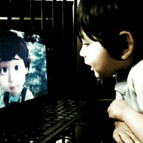 Knoa lives watching Toy Story :) (Taken with instagram)