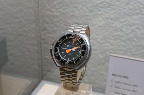 An Omega Seamaster prototype watch for divers.