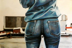 thomassaliot:  Blue denim just finished Oil on canvas