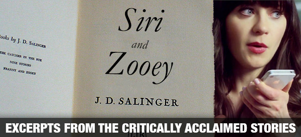 "hypervocal:  Zooey took a parting look at the page she had been reading, then closed the manuscript and dropped it over the side of the tub. ""Jesus Christ almighty,"" she said. ""Sometimes I see me dead in the rain."" ""Yes, that is you dead in the rain,"" Siri retorted plainly. CLICK HERE FOR MORE EXCERPTS…  For some reason this commercial has elicited strong feelings from lots of folks. Bravo, HyperVocal, IMHO this is by far the best response yet."