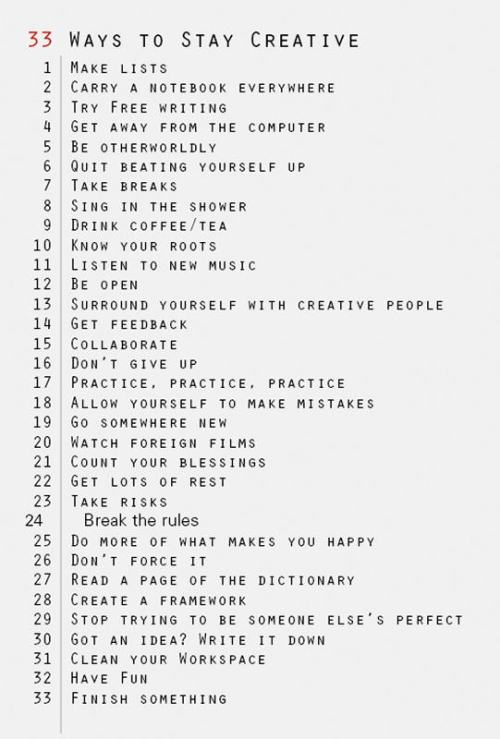 this is a wonderful list of ideas! Let's be creative together!
