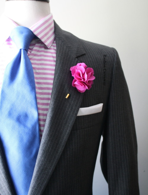 stylepurveyor:  I styled this look for a groom for his upcoming wedding.  Mr. GoodWill Hunting's alter ego, Rashon Carraway, is a stylist for men. He's been on the Nate Berkus show, even!