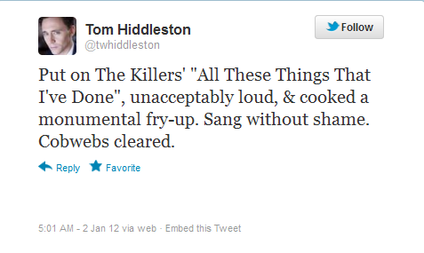 jorahmormonting:  formermaleprostitute:    tomhiddlestons:  #SUPER UPSET ABOUT IT #a day in the life of tom hiddleston #wake up #grin at mirror #look out the window - WHAT A LOVELY DAY! I'LL GO FOR A RUN #tweets about the music he listens to while running #stops several times in the middle of his run to save a child from a fire or help old ladies cross the street #never stops smiling #comes home #cleans the house with a flock of woodland animals while singing to them #god i hate you