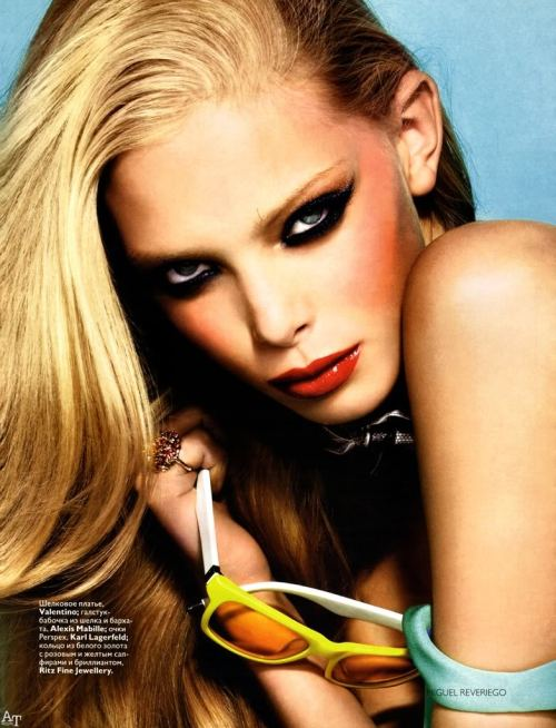 Tanya Dziahileva - Vogue Russia February 2008