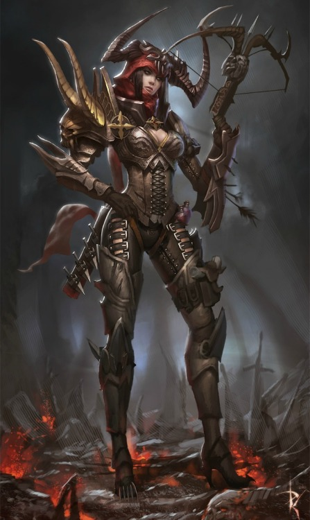 youngjusticer:  D3 players! Which is your favorite class? Demon Hunter, by Paul Hyun Woo Kwon.
