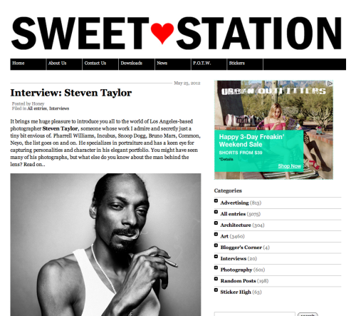 I was recently interviewed by Sweet Station. Check it out if you want.  My Interview with Sweet Station.