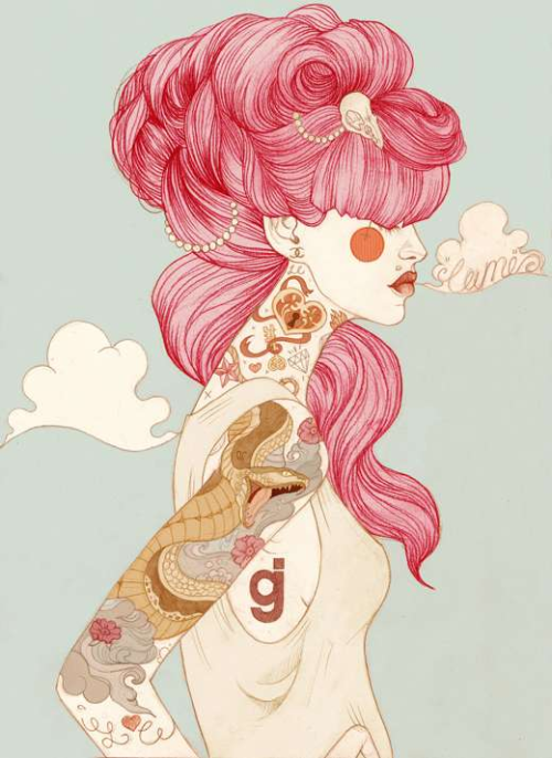 caryseen:  by liz clements http://lcillustration.tumblr.com/