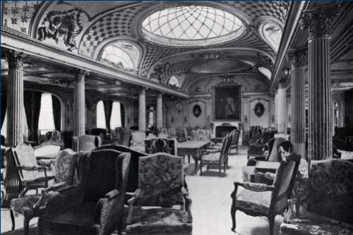 The Grand Salon of the SS France (1912).