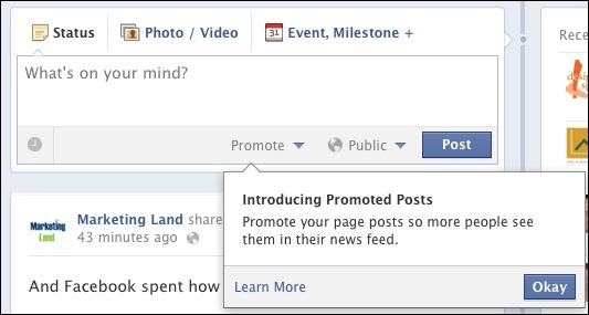 Facebook rolls out promoted page posts today.  Read SEOPRO's post http://bit.ly/Js50at to learn all about it. Want To Reach More Of Your Facebook Fans? Pay 5 Bucks.