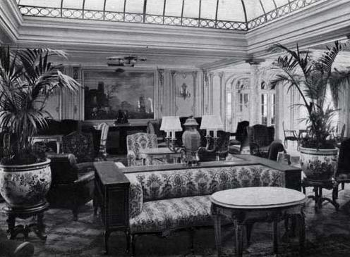 The Mixed Salon aboard the SS France (1912).