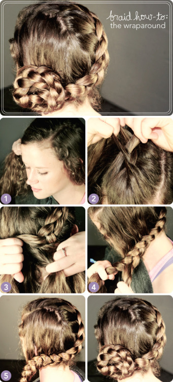 beautylish:  Learn how to create this wraparound braid!