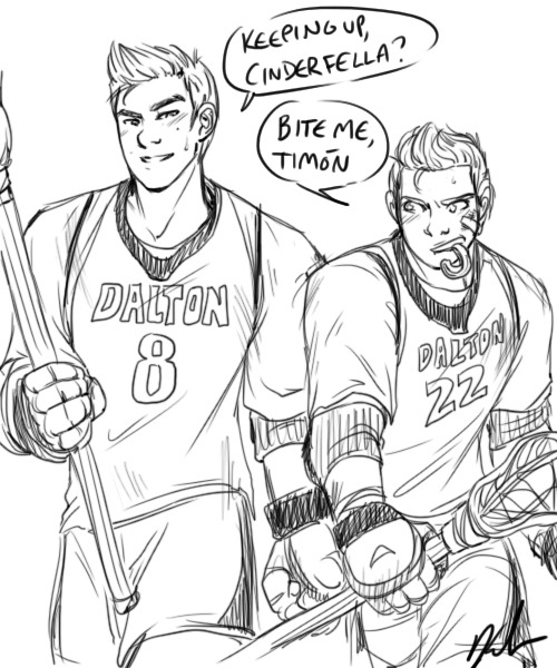 kendrawcandraw:  All I want right now is a fic where Dalton-era Kurt joins the lacrosse team and butts heads with Sebastian okay And then they head butts Get it they fuck can this happen please SIGH