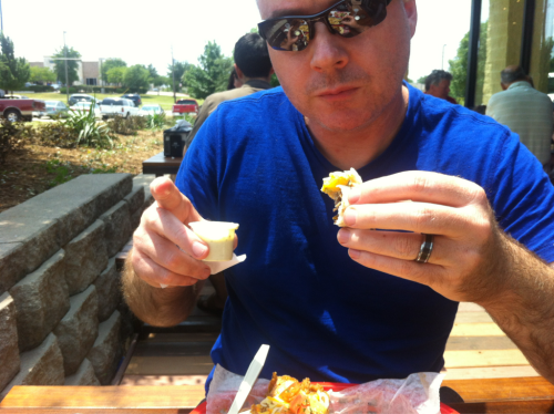 Playin' hooky with Hubby today @ Torchy's tacos!