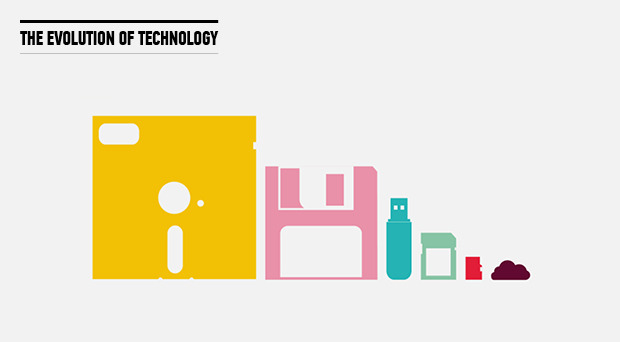 ilovecharts:  The Evolution of Technology, designed by General Assembly's Alexandra Proba.