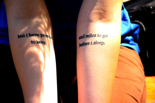 Done at Körperkult, Bad Homburg, Germany. Just because I love Robert Frost and his poems.