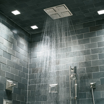 #8. Install Water Efficient Faucets and Showerheads  Even if you love taking long showers, you can save water and money by installing hardware that cuts down your water usage.  Some showerheads include a button that reduces the water flow to a slow trickle while you soap up and shampoo your hair.  See more great green home improvement tips.