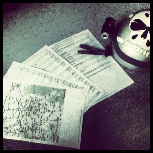 Preparation for longboard trip (Taken with instagram) My directions and helmet for my 40 mile longboarding trip from Huddersfield to Wigan