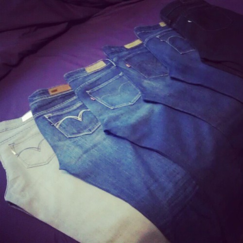 My collection of Levi's <3 (Taken with instagram)