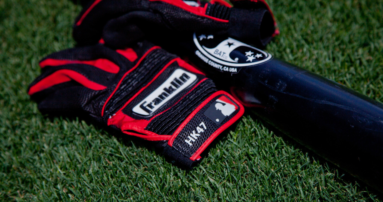 here are @hkendrick47 's gloves- personalized BGs are pretty awesome.  #mlb #angels