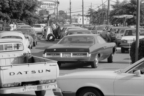 During the Oil Crisis over the summer of '79, cars with a license plate ending in an odd number were only allowed to buy gasoline on odd-numbered days, while even-numbered plate-holders could only purchase gasoline on even-numbered days. Pretty Nuts. (thats what we call cameron)