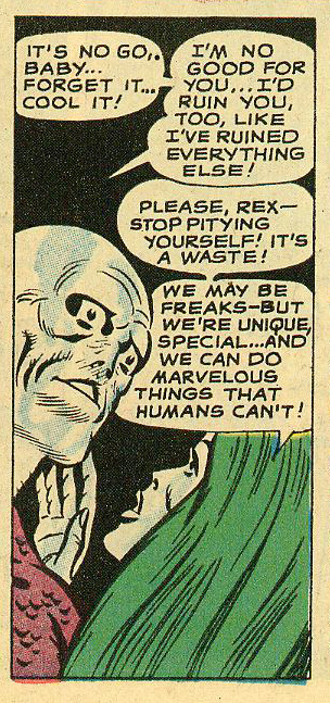 """We can do marvelous things that humans can't!"" Metamorpho #16 (January-February 1968)"