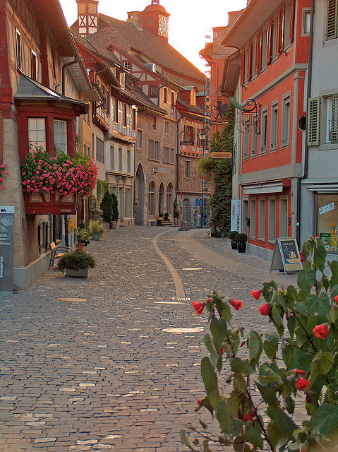 bluepueblo:  Sunset, Stein am Rhein, Switzerland  photo by ulla