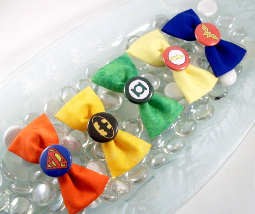 Justice League Hair Bows